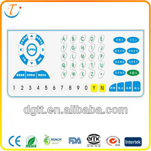 China LED LCD high quality household appliances backlight auto electronic dome membrane touch button spacer