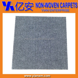 Gray adhesive peel and sticker carpet tiles