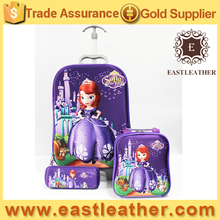 SB008 New designs trendy 3D fairy tales kids school bag of wheeled