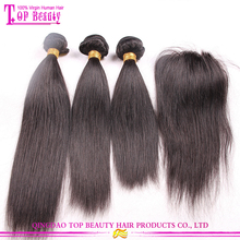 Cheap Stock Tangle Free 4xx4 Virgin Brazilian Straight Lace Closure