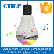 2015 Newest Multicolor Wireless Bluetooth 4.0 Smart LED Light Bulb Speaker - App For Android + IOS Smart Devices E27