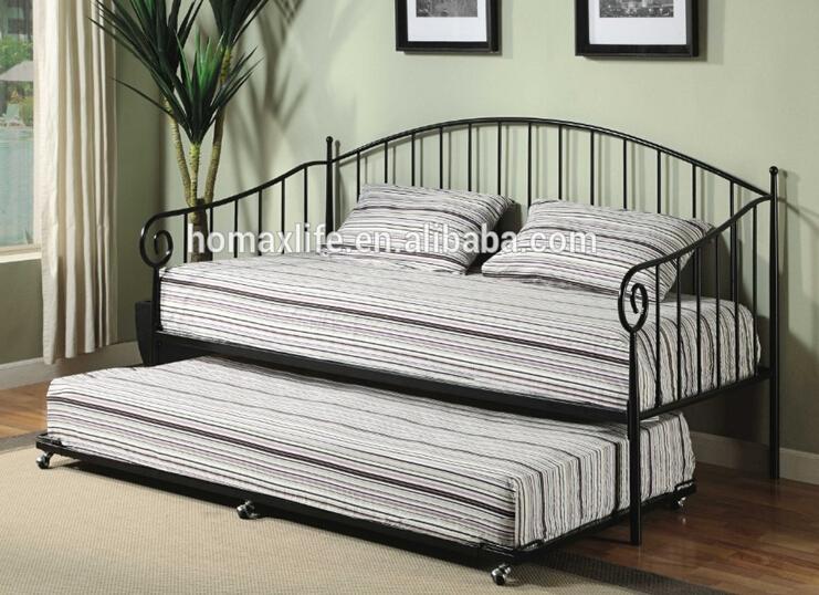 Nwe estilo europeu de ferro forjado sof cama camas de - Cama tipo divan ...
