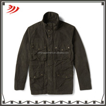 washed keast coated cotton-blend field jackets
