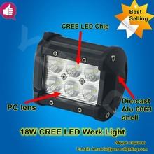 Hot selling market! mini led auto car work lamp spot/flood beam offroad led work light 18W