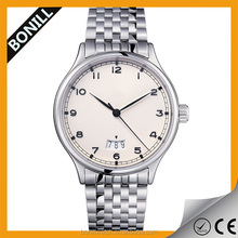 2015 Trending style quality imported movement all stainless steel quartz watch men with date function