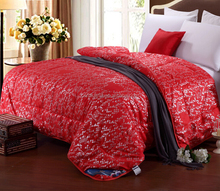 Wholesale high quality warm wool fleece thick comforter/quilts made in china