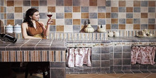 Cheap BathRoom Moroccan Mosaic Floor Tile Price In Dubai
