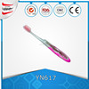 Foldable travel toothbrush with toothpaste