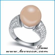 Zirconia Opal Ring Best Costume Platinum Plating Ring Finger Elegant Ladies Ring