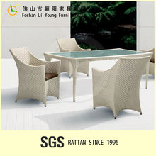 Hottest rattan dining tables and chairs/dining room furniture/rattan dining set LG61-9338&9301