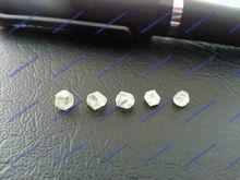round cut white synthetic diamond crystal cubic zirconia gemstone