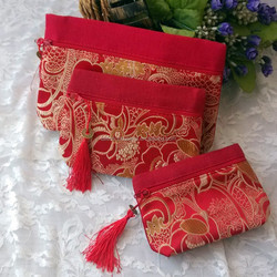 Elegant excellent jewelry brocade wedding gift pouch