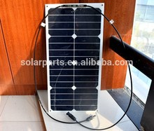 25W Mono flexible solar panel good quality flexible thin film solar panel manufacturers in china