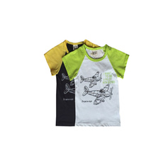 Export best sell children clothing boys short sleeve T-shirt