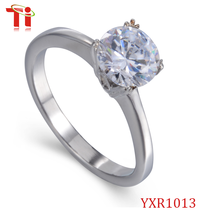 Fashion Product Fake Diamond Engagement Wedding Ring Finger For Lovers
