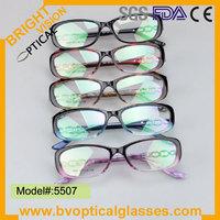 Bright Vision 5507 Woman's full rim acetate temple TR90 optical frame
