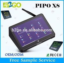 Wholesale dual OS Win 8.1and android quad core PiPo X8 Z3736F intel hd touch screen singapore dvb t2 set top box