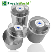Fresh World vacuum stainless steel canister, olive oil stainless steel container