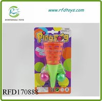 Cheap gift toy plastic ball shooting gun elastic ball gun