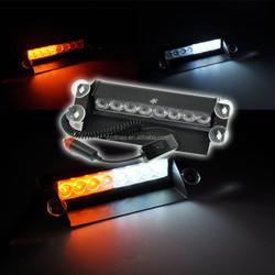 DIHAO 2015 new Car Amber/white 8Led Truck Emergency Beacon Light Bar Hazard Strobe Warning Lamp light