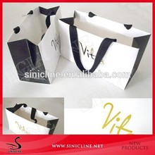 Sinicline Wholesale Simple Design Customized Shopping Paper Bag
