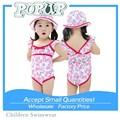 2015 nueva Sweet Girl trajes de baño de frutas impresos traje de baño del niño una sola pieza