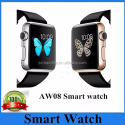 Healthy life assistant AW08 bluetooth smartwatch 1.44'' lcd screen Swity aw08 Heart rate monitor smart watch