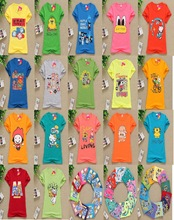 fashion and casual short t shirts for children 2-8 years old mixed patterns wholesale frozen t shirt