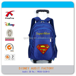2015 new Superman child trolley backpack