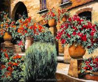 Handmade garden scenery modern acrylic painting flowers