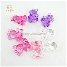 2015 Bule Acrylic Teddy Bear Baby Shower Party Favours For Decorations