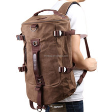 Canvas Boy Backpack Rucksack Travel Outdoor Laptop Hiking Luggage Gym Satchel Bag Duffle