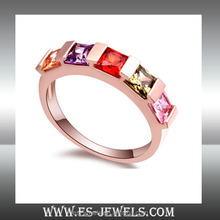 Ladies rings with AAA CZ diamond anniversary jewelry gifts ring