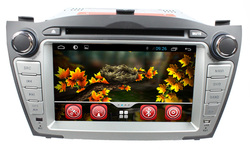 Pure android 4.4.2 hyundai ix35 car dvd player with DVD Bluetooth radio TV GPS 3G Wifi android!