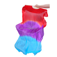 Mix Colors 180cm Belly Dance Props 100% Silk Belly Dance Silk Fan Veil