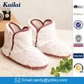baratos zapatos de moda casual de la felpa blanca señora bota de nieve