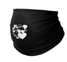 rayon spandex jersey super soft white flower silk print maternit belly band