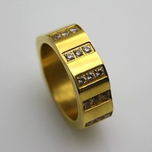 2015 hot gold plated stainless steel snap jewelry antique diamond ring