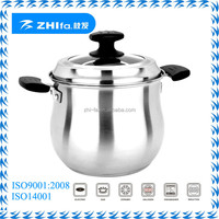 Zhifa Good look stainless steel drum shape cookware stockpot/large soup pot