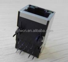 90 degree tab up led connector rj45 / 8p8c network rj45 jack
