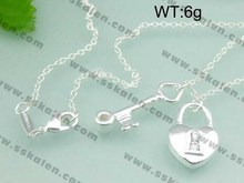 High quality fashion 925 sterling silver necklace jewelry