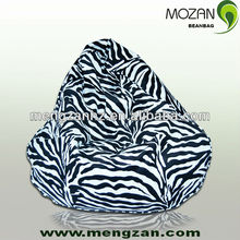 zibra printing canvas beanbag sofa