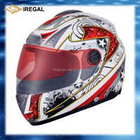 Iregal, china safety filp up helmet with double visor