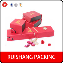 China manufacturers Red Recyclable luxury jewelry paper gift box