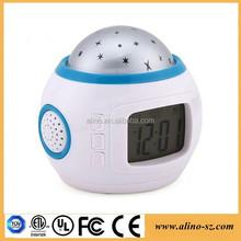 Music Starry Sky Projection Digital Cheap LED Alarm Clock