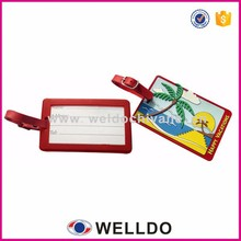 Standard size soft pvc custom travel luggage tag