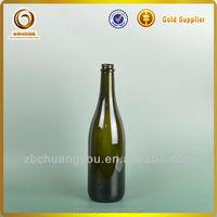 750ml champagne bottles/black bottles