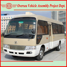 EQB125-20 Model dongfeng cummins diesel engine coaster bus mini bus for sale and assembly