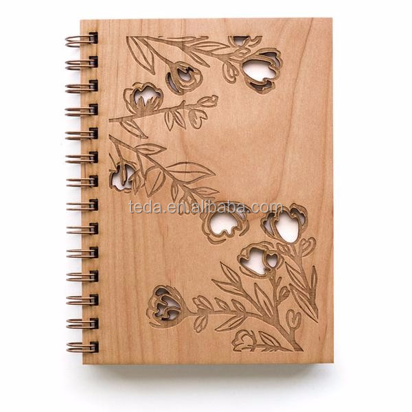 Journal NoteBook Wood Hard Cover Diary  (1)