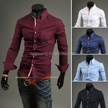 2015 casual slim fit Men's shirts, 100% cotton business dress shirt for men new designer high quality fast delivery